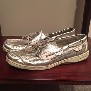 Sperry topsiders- gold