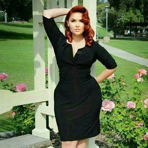 Pinup Girl Clothing Black Katherine dress, size M