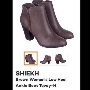 Shoes - Faux Leather Ankle Boots