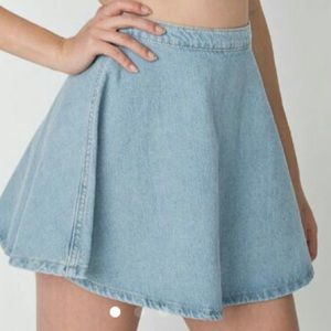 American apparel light wash skirt.