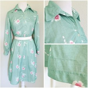  *vintage* beautiful l/s dress