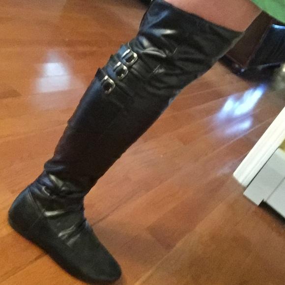 Shoes   Wide Calf Black Thigh High Knee