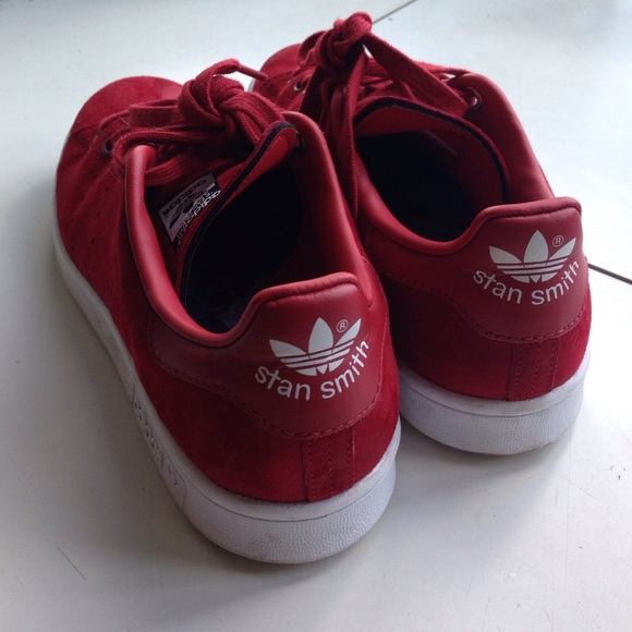 Adidas Shoes - Adidas by Rita Ora Stan Smith Red Suede Sneakers 4f68e28a2361