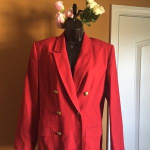 Talbots Jackets & Blazers - Vintage red with gold buttons suit jacket