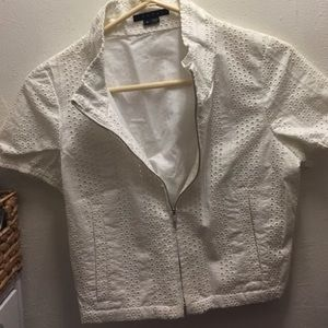 Theory cropped crochet blazer