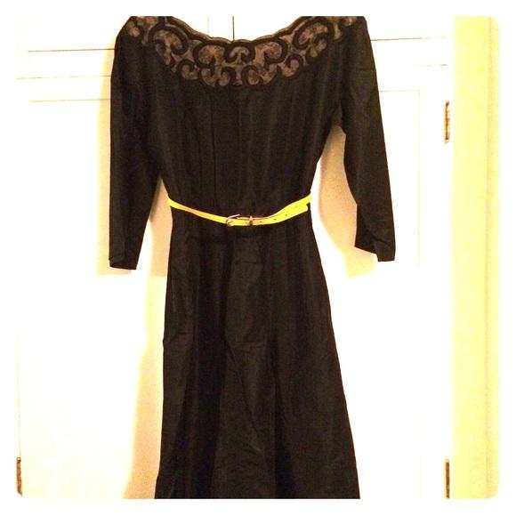 Vintage Dresses 1940s Film Noir Taffeta Dress Poshmark