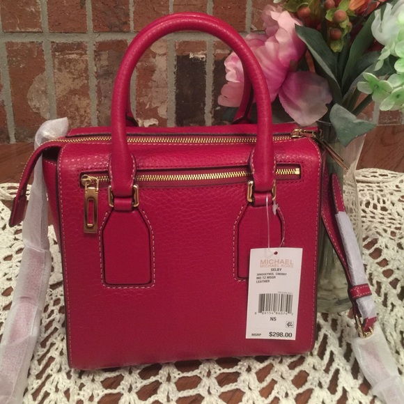 36% off Michael Kors Handbags - Michael Kors cherry red Selby ...