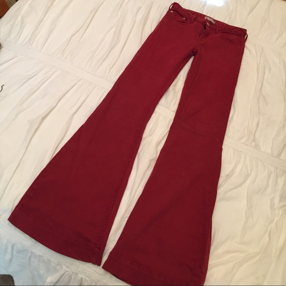 72% off Free People Pants - Free People red flare jeans from ...