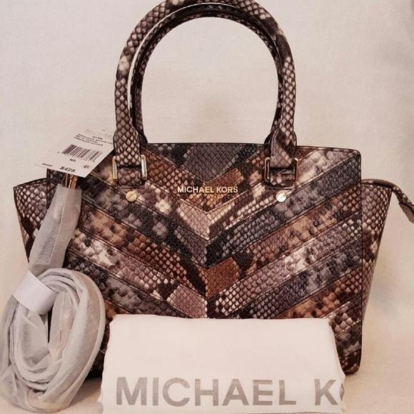 1649b73ecc0f MICHAEL Michael Kors Bags | Michael Kors Selma Medium Tz Satchel ...
