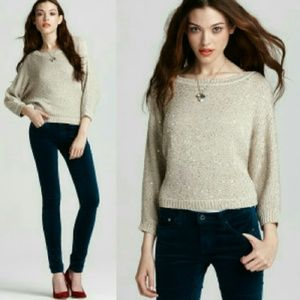 Splendid Sweaters - Splendid Cropped Sequin Dolman Sweater