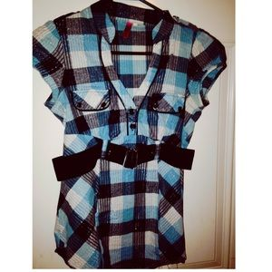 Black & Blue plaid shirt