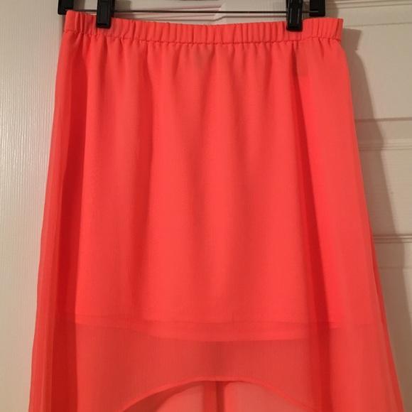 78 off express dresses amp skirts neon pink maxi skirt