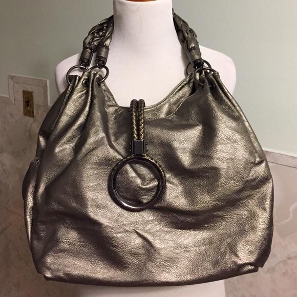 Imotion Bags   New Imoshion Silver Gray Braided Strap Purse   Poshmark f3fc2c2d3c