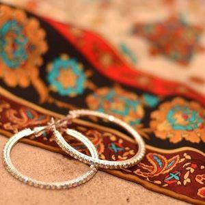 Farah Jewelry Jewelry - Rhinestone Hoop by Farah Jewelry