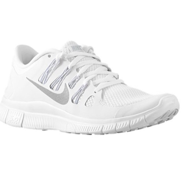 White Nike Free 5.0 running shoes! M 56ecaa09eaf03056ac011210 de76580fc
