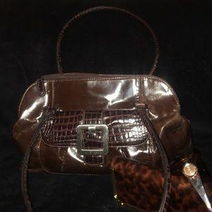 Relativity Handbags - Relativity Leather Satchel