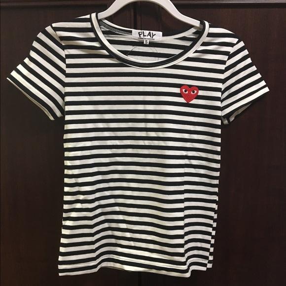 1c66a56ca02b COMME des GARÇONS PLAY Stripe Short Sleeve Shirt