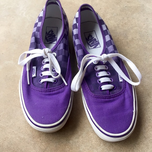 Vans Shoes | Ombr Purple Check Vans