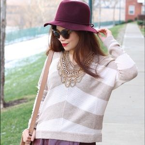 Striped light sweater