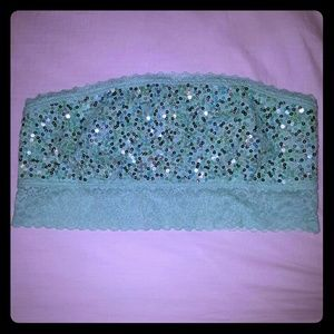 PINK Victoria's Secret Other - Victoria's Secret PINK Mint Green Sparkle Bandeau