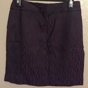 Ann Taylor skirt burgundy with black design 2p nwt