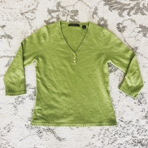 Lord & Taylor Sweaters - Green cashmere sweater
