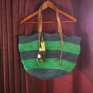 Ralph Lauren straw & leather bag