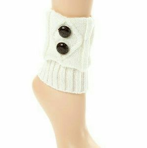 2Chillies Accessories - Ivory knit boot cuffs