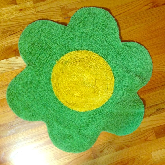 62 off other adorable green and yellow flower rug poshmark adorable green and yellow flower rug mightylinksfo