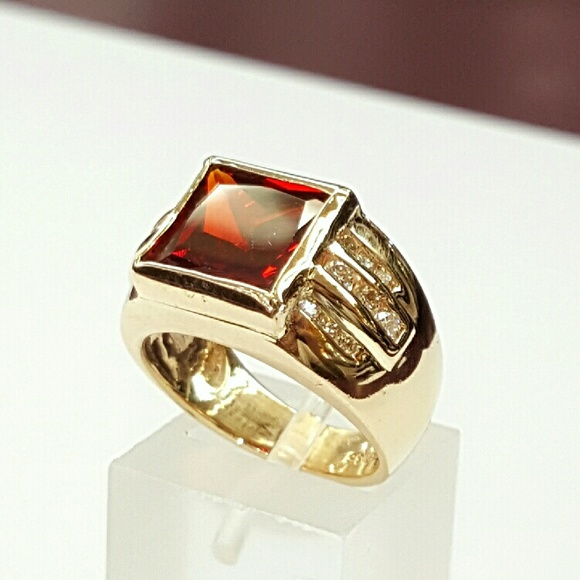 Stunning Brown Tiger Eye 925 Sterling Silver Plated 9 Grams Ring Size 5.5 US Sizable