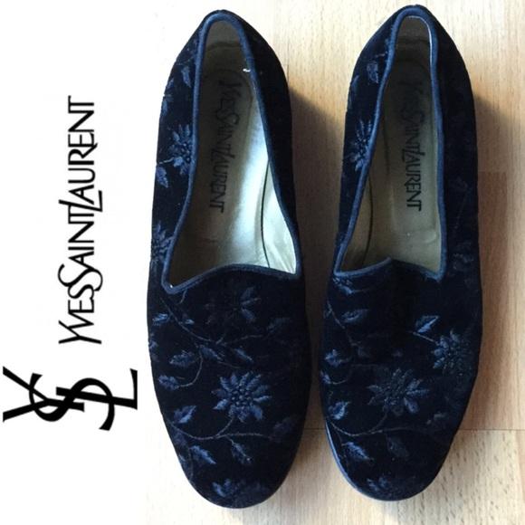 90a2776db5e Yves Saint Laurent Shoes | Ysl Velvet Smoking Slippers | Poshmark