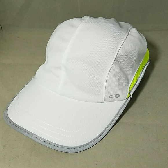 Champion Accessories - CHAMPION C9 White   Neon Yellow Running Cap Hat 21cc750767d