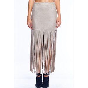 Boutique Dresses & Skirts - Stone Fringe Maxi Skirt