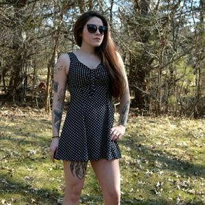 Vintage Dresses & Skirts - 90s polka dot minidress