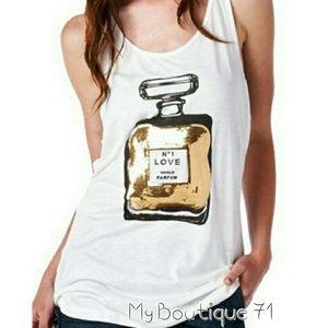 🐞HP🐞Sequin Perfume Bottle Tank