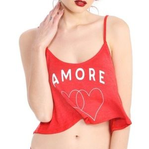 "🎉HP! ❤️ Brand new Wildfox ""Amore"" crop top"