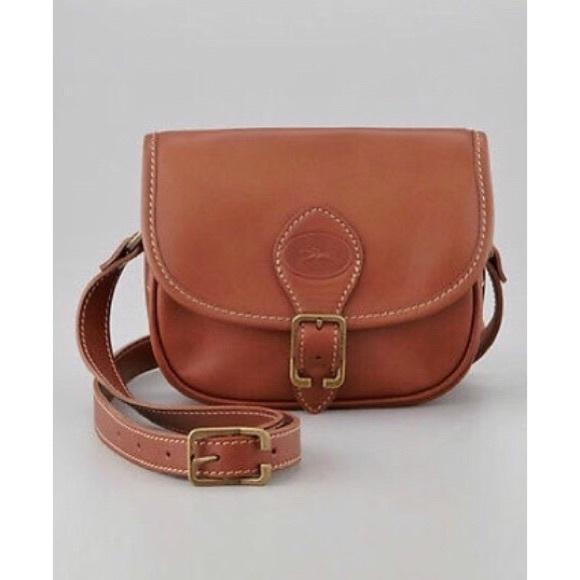 ??NEW?? Longchamp Leather Crossbody Bag