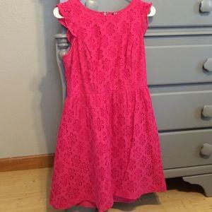 Kensie lace dress hot pink