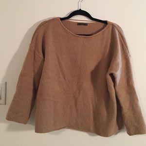 Camel colored Zara sweater