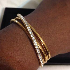 ABS Allen Schwartz Jewelry - ABS by Allen Schwartz Goldtone w/crystals cuff