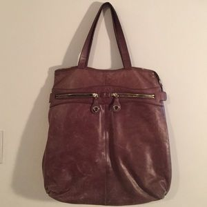 Gorgeous brown leather tote