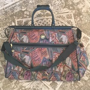 Lge Vintage Capezio tapestry weekender travel bag