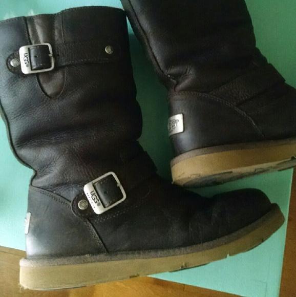 e5e9f8ad6e2 UGG Kensington Leather boots (dark brown)