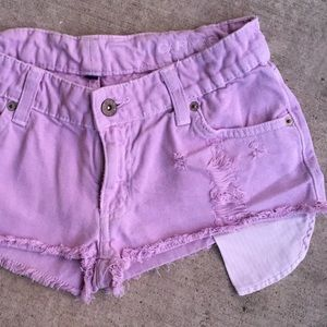 LF Pants - LF Carmar Light Purple Mid Rise Shorts