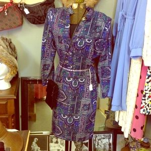 Vintage Paisley Dress XL with pockets