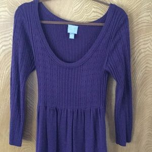 Purple / plum long sweater dress