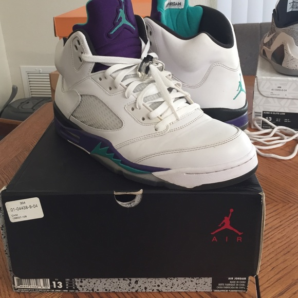 newest f399e 001c8 Jordan Shoes - Air Jordan 5 grape size 13
