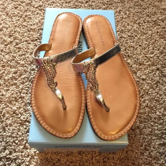37555803a089 ANTONIO MELANI Shoes - Antonio Melani Silver Seahorse Sandals-gently used