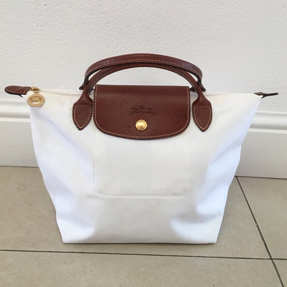 Longchamp Handbags - Authentic Longchamp White Small Le Pliage Tote 71ac003098508
