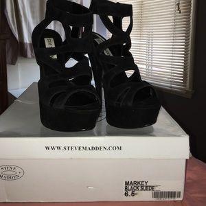 Black Platform Cutout Heels